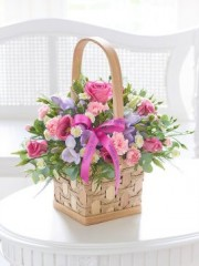 Happy Birthday Scented Pink and Lily Basket