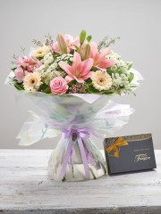 Mother's Day Cherish Hand-tied with Chocolates