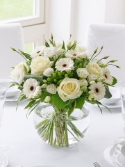 Classical Whites Floral Globe