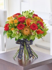 Luxury Orchid, Rose and Calla Lily Vibrant Hand-tied
