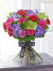 Luxury Vanda Orchid and Anthurium Hand-tied