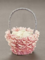 Pink Petal Flower Girl Basket